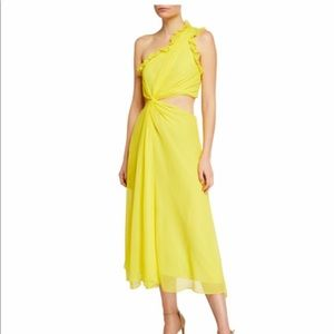 NWT Cinq a Sept Corinne Yellow Dress